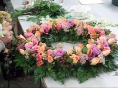 Creation of a Symapthy Wreath created in our store.  We offer custom Sympathy Flower Arrangements for delivery to all Mortuaries located in Orange County California.  You can veiw most of our Sympathy Flowers on our website http://www.everydayflowers.net/Sympathy.html