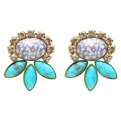 Mahalo Earrings Turquoise Glass, $87, now featured on Fab.