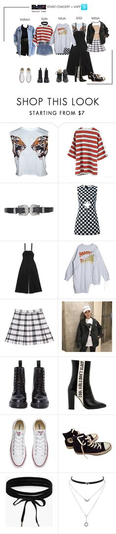 """ARIA (아리아) StarZ Concert in Tokyo, Japan + Vapp Livestream"" by ariaofficial ❤ liked on Polyvore featuring Hood by Air, Levi's, Topshop, Courrèges, Alice McCall, Dr. Martens, Havva, Converse, adidas and Boohoo"
