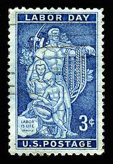 United States stamp: Labor Day Have a Happy, Labor Day. This is a USA stamp issued September to commemorate Labor Day, which began in Old Stamps, Vintage Stamps, Rare Stamps, Vintage Ephemera, Ghibli, Labor Day History, Labor Day Quotes, Postage Stamp Art, Labour Day