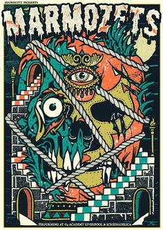 Marmozets concert poster, by Craig Robson