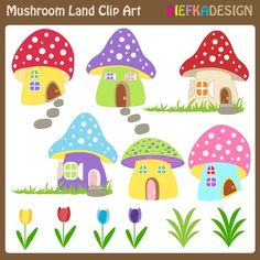 Mushroom Land Clipart