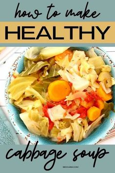 Low calorie winter dinner ideas for healthy meals. How to make homemade cabbage soup recipe with or without beef for healthy winter meal in a crockpot or on the stovetop. This fat burning cabbage soup recipe is a healthy, low-calorie soup for winter dinners or weekday lunches that can be frozen if you meal prep. Learn how to make cabbage soup from scratch either on the stovetop or in a slow cooker with this easy, winter soup recipe as a healthy dinner idea for your family. Vegetarian Cabbage Soup, Easy Cabbage Soup, Cabbage Soup Recipes, Healthy Low Calorie Dinner, Low Calorie Dinners, Nutritious Meals, Healthy Meals, Healthy Recipes, Healthy Soup