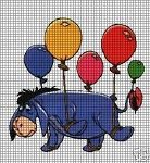 Eeyore Flying Balloons Crochet Pattern