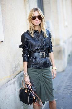 A leading trend on the Fall 2014 runways, boho-leaning showgoers embraced the look with fervor. Pictured: Pernille Teisbaek   - HarpersBAZAAR.com