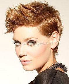 rövid női frizurák - rövid tarajos frizura