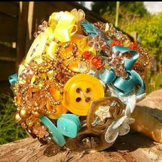 Eclectic broach bouquet :)