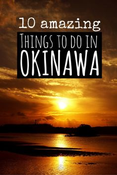 Okinawa - the Japanese version of Hawaii 10 amazing things to do in Okinawa, Japan. The breathtaking island is so similar to Hawaii, yet has one tenth of the crowd. Okinawa really is an insider's tip. Japan Travel Guide, Asia Travel, Japan Guide, Tokyo Travel, Beach Travel, Thailand Travel, Osaka, Oh The Places You'll Go, Places To Visit