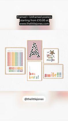 Wall Art Sets, Wall Art Prints, Poster Prints, Nursery Design, Nursery Decor, Scandi Home, Personalised Prints, Wooden Decor, Kids Prints