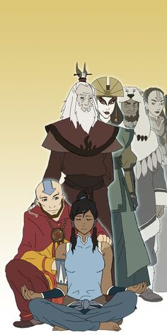 Avatar legacy. I like how Aang is crouched down with Korra.
