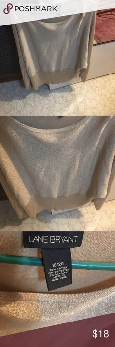 Gold Sparkle Sweater- Lane Bryant Size 18/20. Absolutely stunning sweater! Very warm as well for this winter and fall! Lane Bryant Sweaters