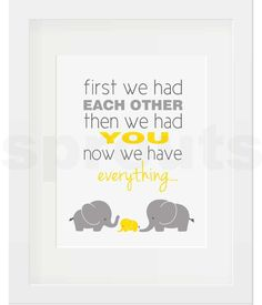 First We Had Each Other Elephant Trio 2 Vibrant Yellow - ExpressiveSprouts