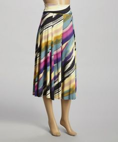 Perfect for vacation!!  Love this Taupe Soft Stripe Convertible Fold-Over Maxi Skirt on #zulily! #zulilyfinds