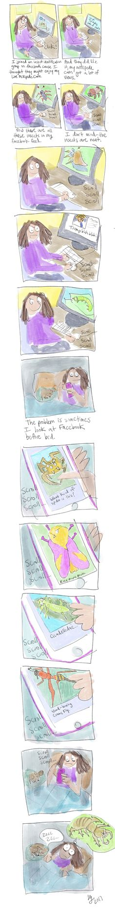 FB Feed Dominated by Insects - from my autobiographical web! Autobiographical Comics, Insects, Funny, Funny Parenting, Hilarious, Fun, Humor