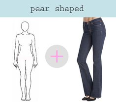 How to Find the Right Fit for Your Figure #DenimGuide FOR PEAR SHAPED WOMEN