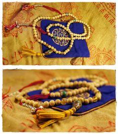 Lotus mala beads