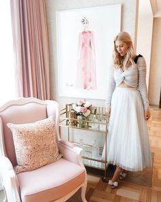 Kerrie Hess Suite: The Residence at The Langham Melbourne - Kerrie Hess Illustration Megan Hess, Kerrie Hess, Melbourne Hotel, Warwick Fabrics, Rodeo Queen, Pink Curtains, Classic Elegance, Girly Girl, Parisian