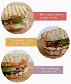 Three delicious and quick dinner sandwiches - Tres deliciosos sándwiches para cenas rápidas