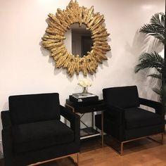 #LivingRoomEndTables Black And Gold Living Room, Dark Living Rooms, Living Room End Tables, Living Room Decor Cozy, Living Room White, Living Room Chairs, Room Decor Bedroom, Rugs In Living Room, Elegant Home Decor