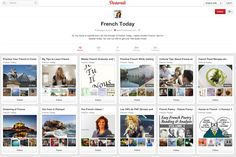 French Vocabulary for Pinterest - Vocabulaire Pour Pinterest - Learn French