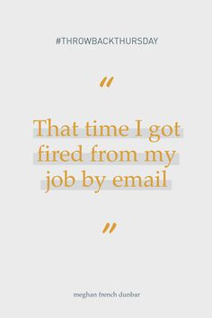 #ThrowbackThursday to that time I got fired from my job by email at 1:00 am on a Friday and the next day decided that meant I was supposed to start my own company. What are some of your experiences where a closed door actually turned out to be a blessing? Social Entrepreneurship, Life Purpose, A Blessing, My Job, Meant To Be, Dreaming Of You, Friday, Fire