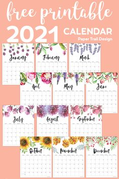 Free Printable Calendar Templates, Mother's Day Printables, Planner Template, Printable Planner, Calendar Pages, Planner Pages, December Calendar, January, 2021 Calendar