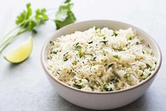 BEST cilantro lime rice, no kidding! Better than Chipotle's. EASY to make. Perfect with Mexican and Asian food, great in burritos. On SimplyRecipes.com