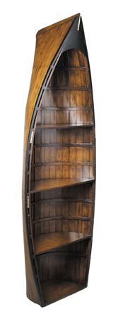 Authentic Models Bookcase, a boat shaped piece that makes for a quirky ornamental feel which is also highly practical.