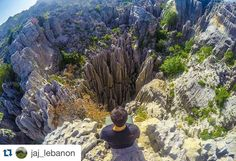 """#Repost @jaj_lebanon with @repostapp.  #Repost @bassil.jad  """"And if you gaze long enough into an abyss the abyss will gaze back into you."""" - Friedrich Nietzsche ... #jaj_lebanon #nature#mountains#lebanon#abyss#nietzche#adventure#wild#wilderness#wildernessculture#hiking#peace#solitude#explore#wander#discover#wanderlust#earth#beauty#gorge#livelovelebanon#livelovebeirut ... Credits : @djpapou1 by lebanonadventure"""