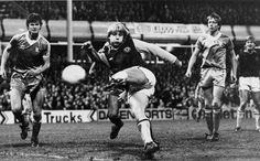 1980: Gary Shaw thunders in a goal against Birmingham City