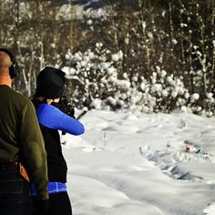 Shooting the AR 15 at my family cabin over Christmas. It was 1 degree. SO COLD.   #seriouslywyoming #youaretoocold #wyoming #rifles