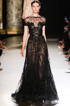 Little black dress on a whole new level. {elie saab fall 2012 couture via this is glamorous}