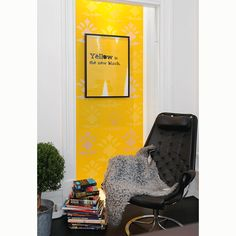 Yellow is the new black, i gruppen Tavlor & Posters / Citat hos AB Love Chair, Concrete Jungle, Sweet Home, Yellow, Interiors, Furniture, Black, Design, Chairs