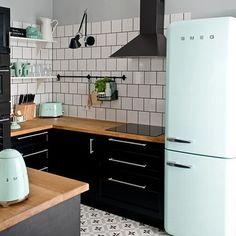 SMEG Pastel Green Toaster & Fridge