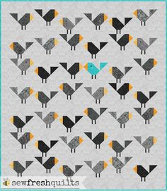 Welcome to the Let's Bee Social!  This past week was a busy one. Got a lot of piecing and pattern writing done. But not much quilting.   I have been sharing progress pictures of my Black Birds baby qu