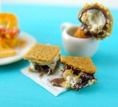 Dollhouse Miniature S'mores and FREE Ice Cream Cone by mousemarket