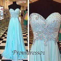 Prom dress 2015 - cute sweetheart ice blue ruffles long senior prom dress
