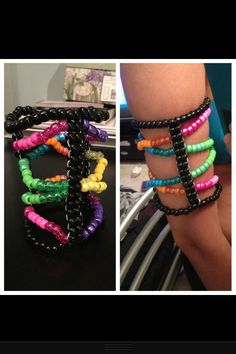 I would make this a little differently structure wise and change the colors, and I would make it as a thigh piece instead of a bracelet. But I love this kandi :)