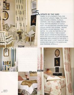 Out of Print Decorating- Country Home, February 2007, The Theory of Evolution, featuring the home of Liz Pierce