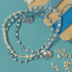 Something Blue - this would be gorgeous with some freshwater pearls I have