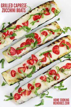 Grilled Caprese Zucchini Boats Recipe