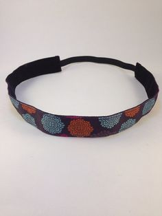 Dark Purple Medallion non-slip headband for everyday and active wear on Etsy, $8.00