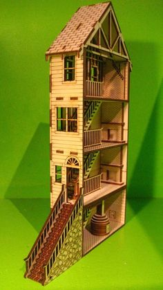 Lasercut house
