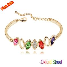 2014 New Arrival 18K Platinum Plated Austrian Crystal Multicolor Bracelets & Bangles, Rhinestone SWA Elements, 14 Colors - http://www.aliexpress.com/item/2014-New-Arrival-18K-Platinum-Plated-Austrian-Crystal-Multicolor-Bracelets-Bangles-Rhinestone-SWA-Elements-14-Colors/2002001530.html