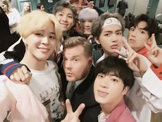 Seriously.. James is really the luckiest man in the world.... I mean 1D said he is 6th member of the band and nowhere even meet BTS and said himself their biggest fanboy. I'm..