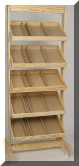 0089 woodthings.com, Bread Racks, Display Racks, Bakery Racks
