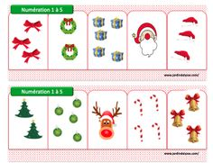 Here with a little advance the sheets for the special counting boxes N . Christmas Holidays, Christmas Decorations, Xmas, Holiday Decor, Theme Noel, Math Games, Diy Hacks, Art Education, Preschool