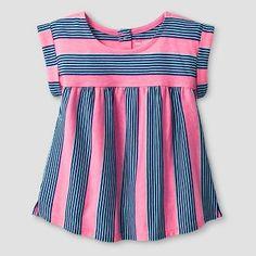 Toddler Girls' Striped Babydoll T-Shirt Cat & Jack™ - Pink