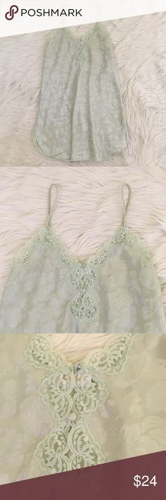 """VTG Barbizon Satin Floral Green Chemise Nightgown Vtg 1991 Barbizon women's size medium Chemise  • Light green satin material • Floral • Lace embellished • Excellent condition, might be new without tags  Length: 34.5"""" Armpit to armpit: 19""""  📌NO lowball offers 📌NO modeling 📌NO trades  Please check out the rest of my closet, I have various brands and ALL different sizes. Some new with tags, others in excellent condition😊 Barbizon Intimates & Sleepwear Chemises & Slips"""