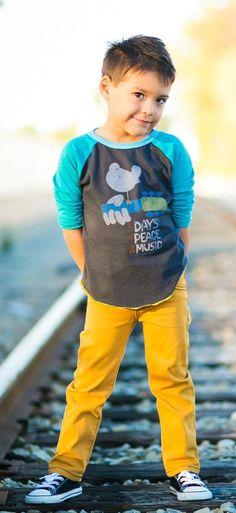 Hoonana mustard pants for toddlers
